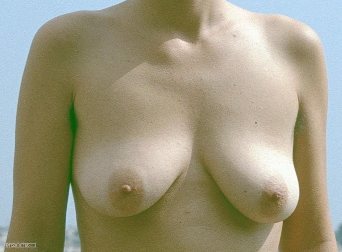 Small Tits Of My Girlfriend Topless Saggy Tits